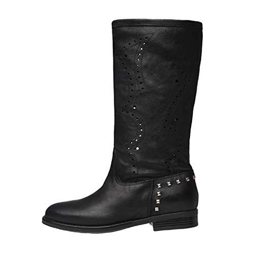 NeroGiardini E010301D Stivali Donna in Pelle - Nero 39 EU