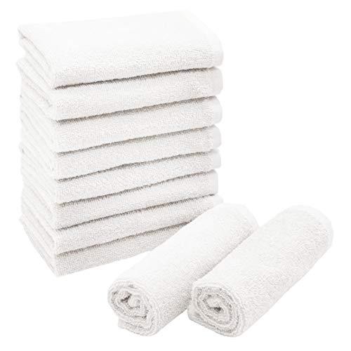 ZOLLNER 10 Toallas para la Cara, algodón 100%, 30x30 cm, Blanco