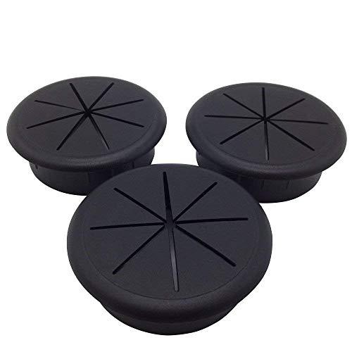 3pièces en plastique flexible Grommet Noir 60MM de diamètre