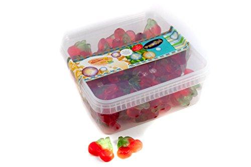 Fruchtgummi Kirschen - zuckerfrei - in einer praktischen AromaFrischeNaschbox 1kg - Deine Naschbox.