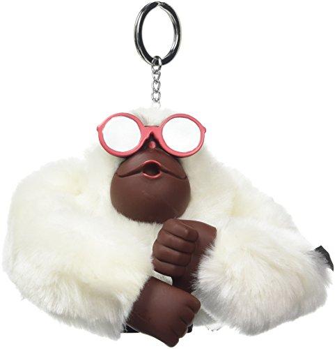 Kipling Flip Flop Monkey, Unisex-Erwachsene Schlüsselanhänger, Weiß (Tile White), 5x10x15 cm (W x H x L)