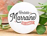 Badge marraine de compet' | Manahia | badge baptême - demande marraine - annonce naissance