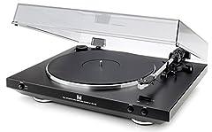 Podwójny W pełni automatyczny gramofon USB DT 400 (33/45 obr./min, magnetyczny system odbioru, port USB, przedwzmacniacz decerzer) czarny
