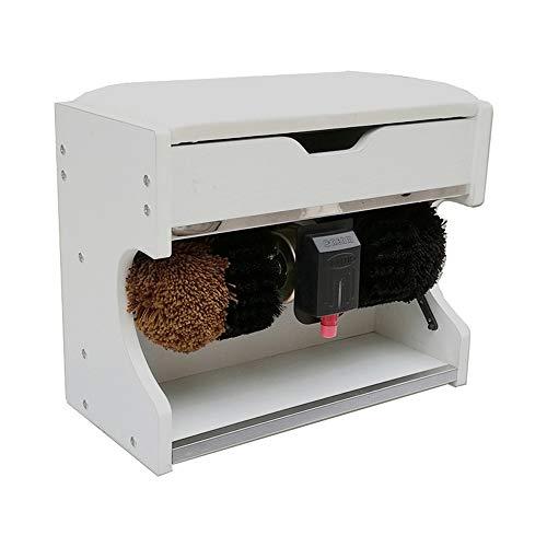 DHR Pulidora automática de Zapatos 60W, Cepillo de inducción automático, Banco de...