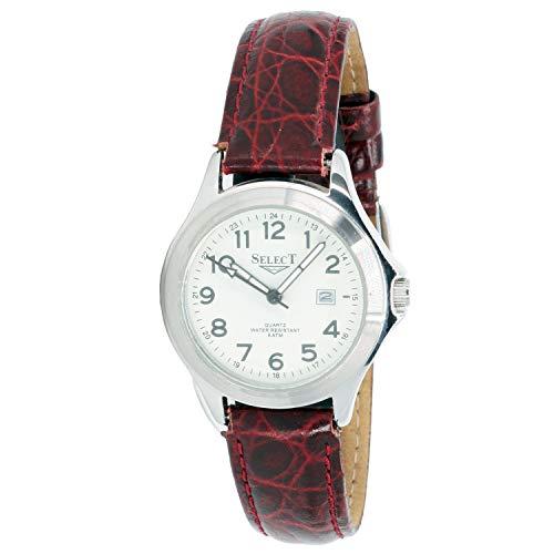 Select 98610-a Reloj Analogico para Mujer Caja De Acero Inoxidable Esfera Color Blanco