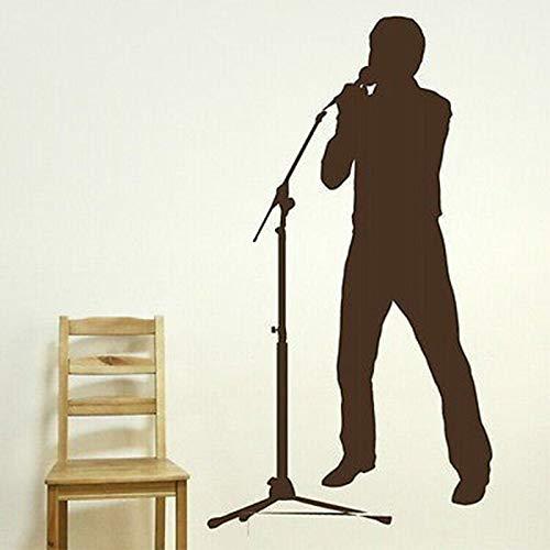 Vcnhln DIY Boy Singer Pegatinas de Pared Decoración para el hogar Música Micrófono Spline Etiqueta de la Pared 55x100cm