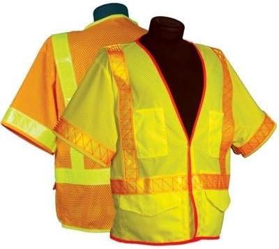 ML Kishigo - Omni Brite Ultra-Cool Mesh Vest with Sleeves, Class 3, color: Orange, size: 3X-large
