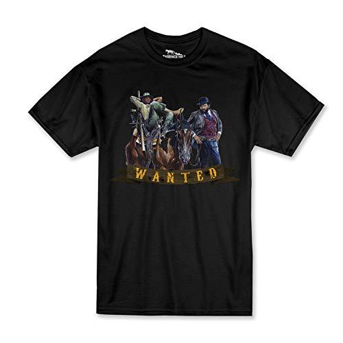 Preisvergleich Produktbild Terence Hill Bud Spencer T-Shirt - Wanted - Vier Fäuste für EIN Halleluja (schwarz) - Renato Casaro Edition (M)