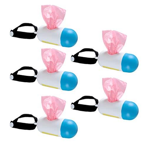 Heallily Wickeltaschenspender 5 Sätze von tragbaren Müllsack Wickeltaschenhalter Box Einweg-Müllsack-Container für Baby Windel Müll