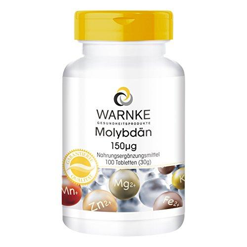 Molybdän 150µg - 100 Tabletten - vegan - essentielles Spurenelement - Hergestellt in Deutschland