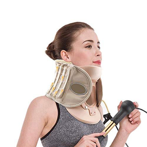 JM-D Tracción de la Columna Vertebral Cuello Cervical Tractor Apoyo rígida de plástico para Dolor de Cabeza Dolor de Cuello Altura Ajustable