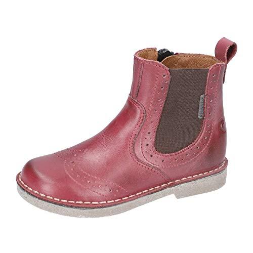 RICOSTA Kinder Stiefel Dallas, Weite: Mittel (WMS), Kinder-Schuhe Spielen verspielt detailreich Freizeit leger Chelsea Boot,Fuchsia,35 EU / 2.5 UK