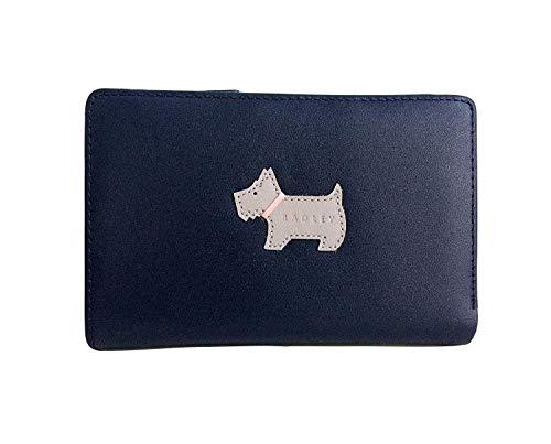 Radley Heritage Dog Geldbörse, Leder, mittelgroß, Marineblau