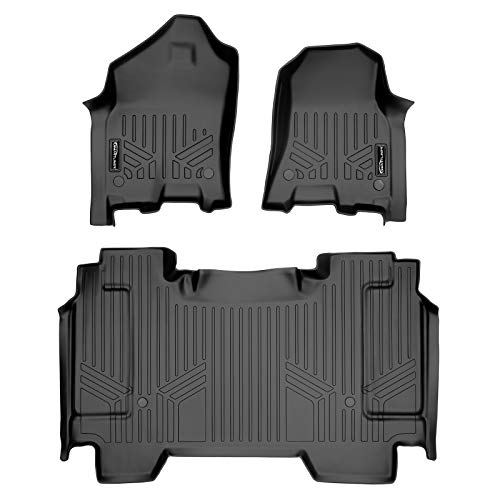 MAXLINER Custom Fit Floor Mats 2 Row Liner Set Black for 19-21 Ram 1500 Crew Cab Without Rear Underseat Storage Box