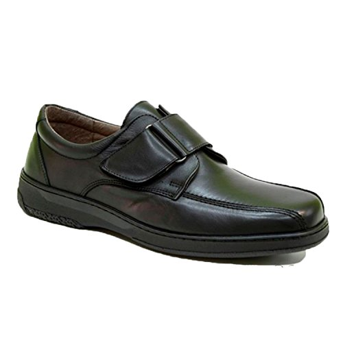 Primocx Zapato Velcro Hombre Muy Cómodo Especial Diabéticos EN Negro