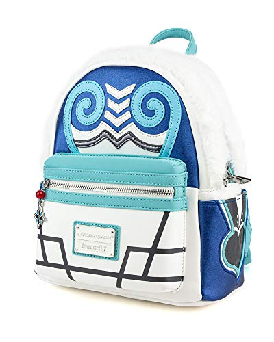 Overwatch Mei Faux Fur Cosplay Mini Backpack, White, White, Size One Size