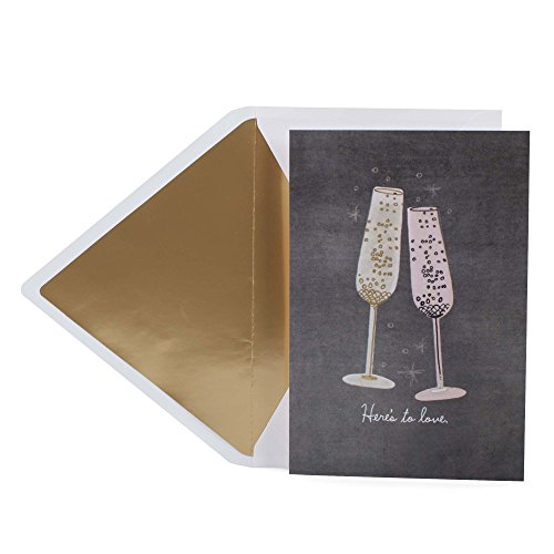Hallmark Signature Wedding Card, Bridal Shower Card, Engagement Card (Champagne Flutes)