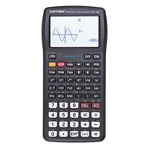 CATIGA CS229 Calcolatrice scientifica con funzioni grafiche, diverse modalità con interfaccia utente intuitiva, per corsi principianti ed esperti