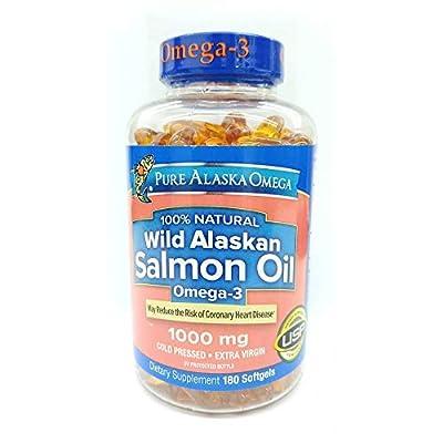 Pure Alaska Omega-3 Wild Alaskan Salmon Oil 1000Mg Softgels 180-Count by KEE HOLDINGS Inc.