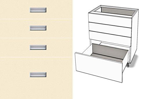 Premium-Ambiente TCY053 Unterschrank 4-Schubladen Vollauszug Tandembox Antaro Softclosing eingelassener Griff EURODEKOR® (Breite 30cm, 53 Vanille)