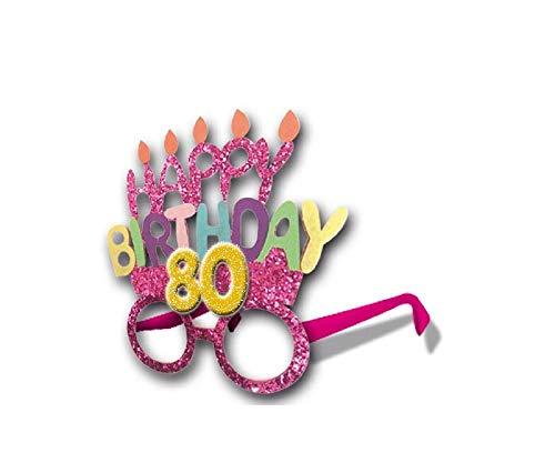 Gafas Party accesorios idea regalo cumpleaños genérico. 18 años 30 años 40 años 50 años 60 años 70 años 80 años 80 Anni