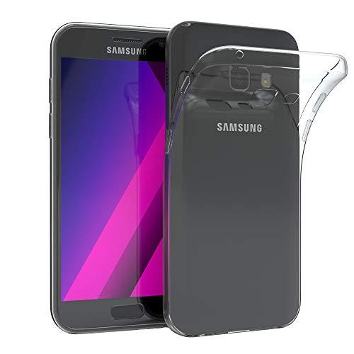 EAZY CASE Hülle kompatibel mit Samsung Galaxy A3 (2017) Schutzhülle Silikon, Ultra dünn, Slimcover, Handyhülle, Silikonhülle, Backcover, Durchsichtig, Klar Transparent