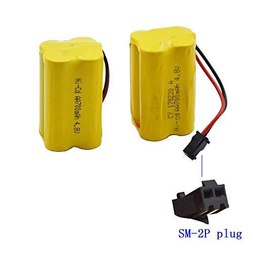 Blomiky 2 Cuboid 4.8V 800mAH Battery for F1 RC Boat F1 Battery 2 Pack