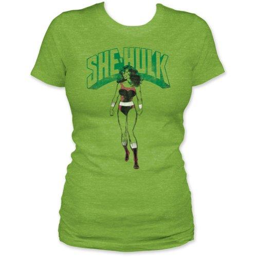 Camiseta feminina Marvel She-Hulk Tall Glass of Water, Verde, S