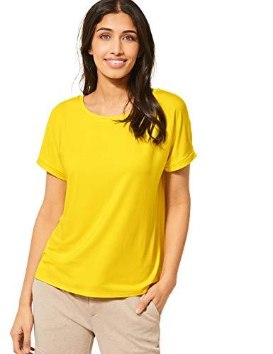 Street One Damen Crista T-Shirt, Shiny Yellow, 34