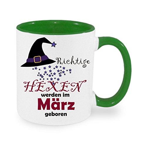 Creativ Deluxe Richtige Hexen Werden im MÄRZ geboren - Kaffeetasse mit Motiv, Bedruckte Tasse mit Sprüchen oder Bildern