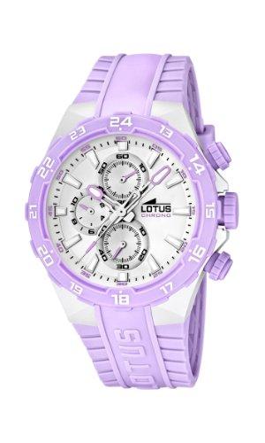 Lotus 15800/A - Reloj analógico de cuarzo para mujer con correa de plástico, color lila