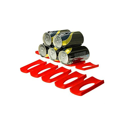 TOOGOO Nevera Can Beer Wine Bottle Rack Organizador Holder Mat Stacking Tidy Tool