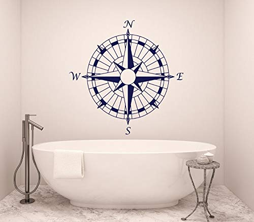 Fotobehang badkamer kunst kompas nautische vinyl sticker sticker kunstenaar woondecoratie slaapkamer boot marine zelfklevende poster 57x57cm
