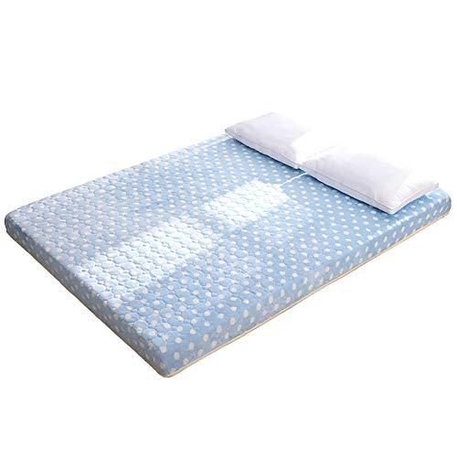 WT Single dubbel matras, 10cm dik traagschuim bescherming matras - langzaam rebound kussen + polyester stof, 90 * 190cm