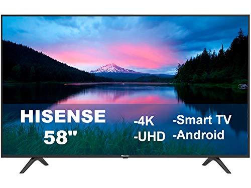 Hisense Pantalla 58' Led Smart TV 4K Android UHD HDR10 Dolby Vision Compartible con Alexa & Google 58H6550E (Renewed)