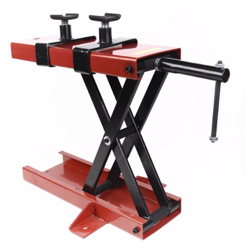 Goplus New 1100 LB Scissor Lift Jack ATV Motorcycle Dirt Bike Scooter Crank Stand
