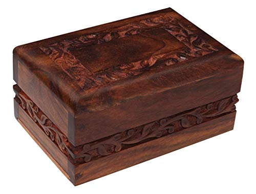 Bogati Hand Carved Rosewood Urn