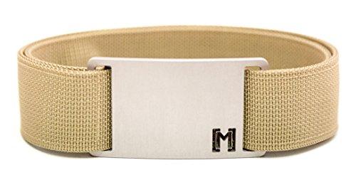 MagBelt - XX-Large Tan Belt/Silver Buckle