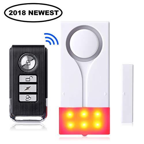 Toeeson 110DB - Door window alarm, wireless remote control, bike burglar alarm, magnetically triggered, pool door alarm for children