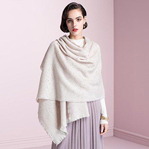 YQQ-écharpe Femme Hiver Châle Couleur (Couleur : Pink)