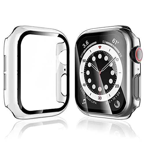 LK Compatibile con Apple Watch SE Series 6 40mm Pellicola Protettiva, 2 Pezzi,Vetro Temperato Cover Custodia, Model No.LK-X-104