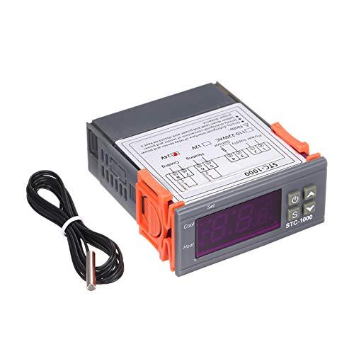 Pilvnar STC-1000 Regolatore di Temperatura Digitale, Termostato centigrado di Raffreddamento e Riscaldamento, Regolatore di Temperatura Multifunzione, con sensore, 24V