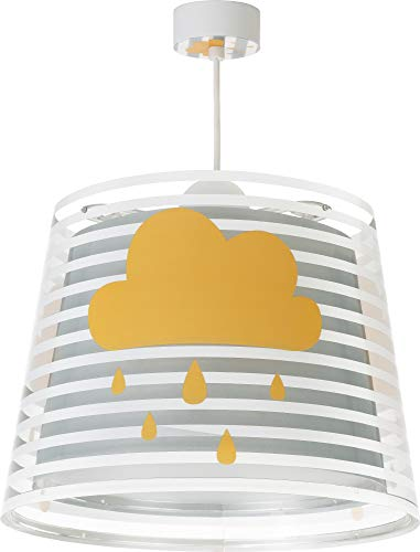 Dalber Light Feeling Lámpara Infantil de Techo Nubes, 60 W, Gris