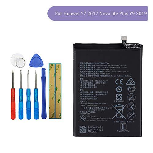 Tangzhi HB406689ECW Batería de Repuesto Compatible con Huawei Y7 2017 Nova Lite Plus Y9 2019 Enjoy 7 Plus TRT-AL00 con Herramientas