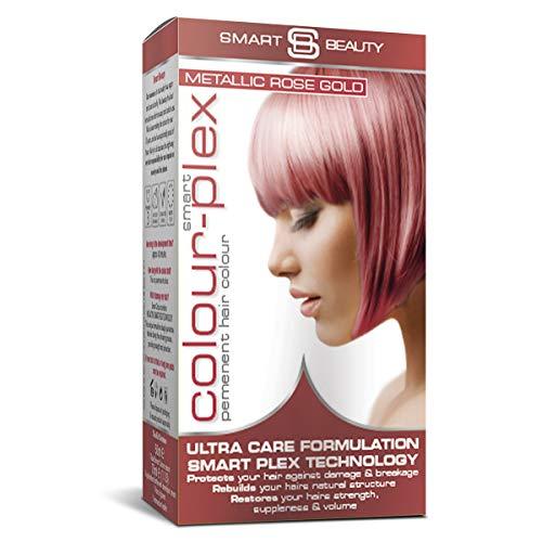Smart Beauty Permanent Cheveux Teinture, Métallique Pastel Couleur avec Nourrissant Nio-Active Plex Cheveux Traitement, 150 ML - Or Rose, 150 Millilitres