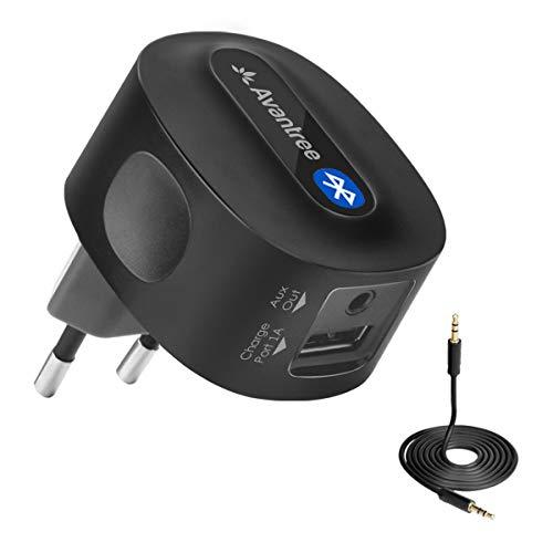 Avantree Roxa Plus aptX Low Latency Bluetooth Empfänger für Stereoanlage mit Stecker, Wireless Audio Receiver Adapter Musik mit 3,5mm Aux Cinch Kabel für Musikstreaming-Soundsystem, HiFi