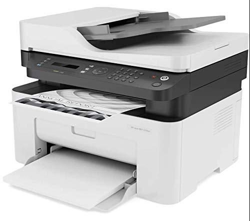 HP LaserJet MFP 137fnw (4ZB84A) Stampante Laser Multifunzione Monocromatica, Stampa, Scannerizza, Fotocopia, Fax, Wi-Fi, Wi-Fi Direct, ADF, Bianco