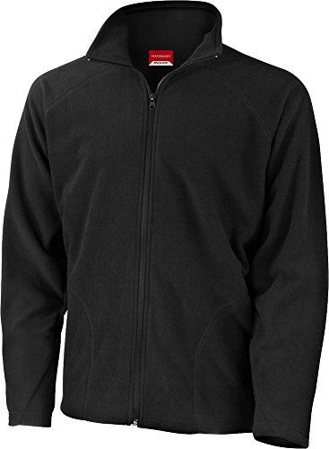 Result Herren leichte Mikro-Fleece-Jacke Stretch-Passform Herrenmantel, blau