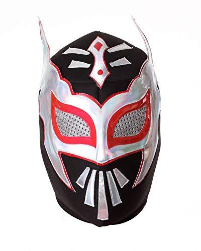 Luchador Lucha Libre - Máscara de lucha mexicana, color negro