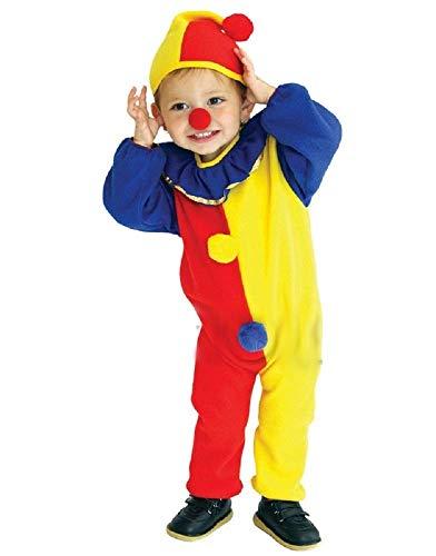 Maat m - 4/5 jaar - kostuum - vermomming - carnaval - halloween - clown - circus - gele kleur - unisex - kinderen